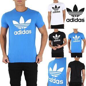 Mens-Adidas-Rich-Cotton-Originals-Trefoil-T-Short-Sleeve-Crew-Neck-T-Shirt-Top