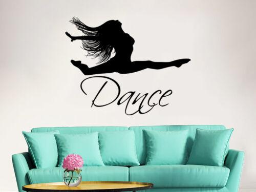 Dance Wall Decal Ballet Dancing Ballerina Quote Vinyl Sticker Dance Studio ZX283