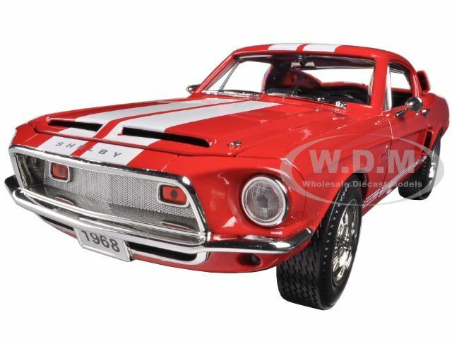 1968 1968 1968 FORD SHELBY MUSTANG GT 500 KR GT500 RED 1 18 BY ROAD SIGNATURE 92168 a2cf2f