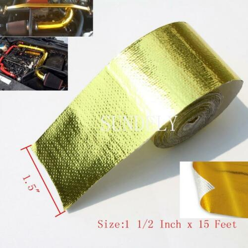 SELF ADHESIVE REFLECTIVE GOLD HIGH TEMPERATURE HEAT WRAP TAPE