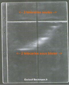 20-FEUILLES-POUR-CLASSEUR-TELECARTES-BECKMANN-AVEC-OU-SANS-BLISTER-REF-MOD01