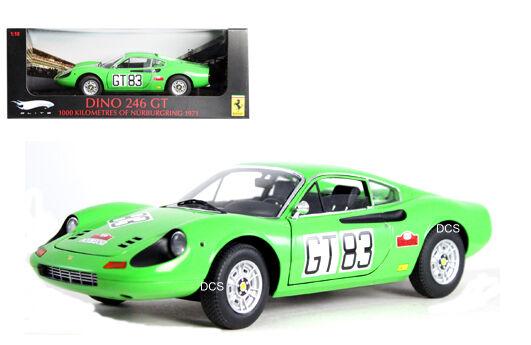 Elite 1971 Ferrari Dino 246 Gt  83 Nurburgring 1 18 Voiture Miniature T6268