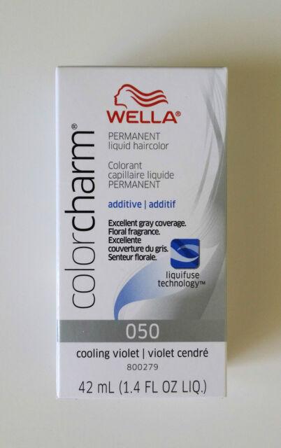 Wella Color Charm 050 Cooling Violet Light Drabber Additive Hair Toner Colour