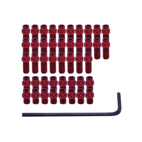 DMR maudites acier 44 remplacement Pédale Broches pour Vault pédales-Rouge