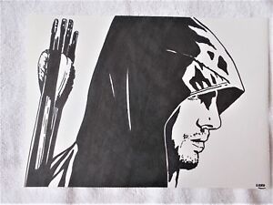 A4-Art-Marker-Pen-Sketch-Drawing-Stephen-Amell-as-Green-Arrow-TV-Series-B