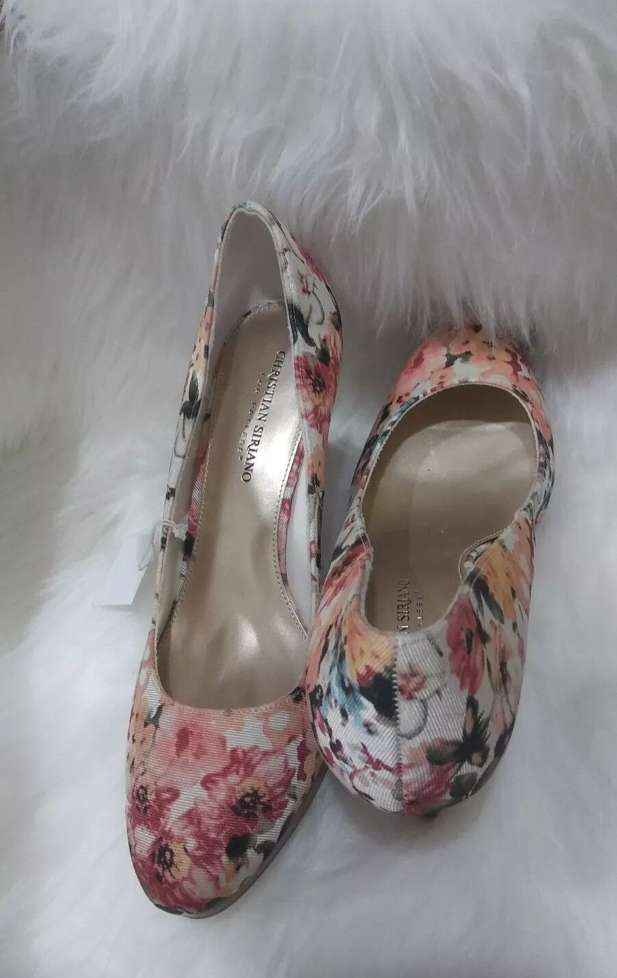 Christian Christian Christian Siriano Floral Print  4  High Heel Round Stiletto Taille 11 968c2f
