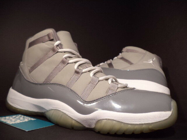 Nike Air Jordan XI 11 Retro COOL GREY WHITE BLACK PATENT LEATHER 378037-001 12.5