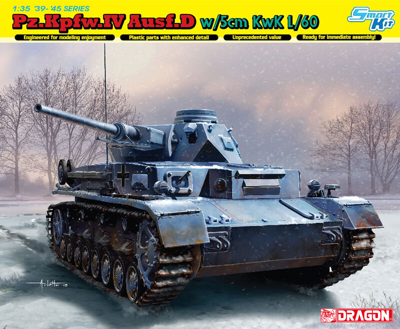 Dragon 1 3 5 6736  Pz.kpfw.iv Ausf. D with 5cm KWK L 60
