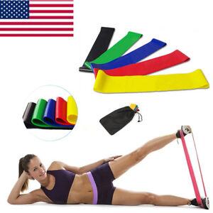 Workout Resistance Bands Loop CrossFit Fitness Yoga Leg Exercise Band Set USA