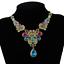 Fashion-Elegant-Women-Rhinestone-Crystal-Choker-Bib-Statement-Pendant-Necklace thumbnail 39