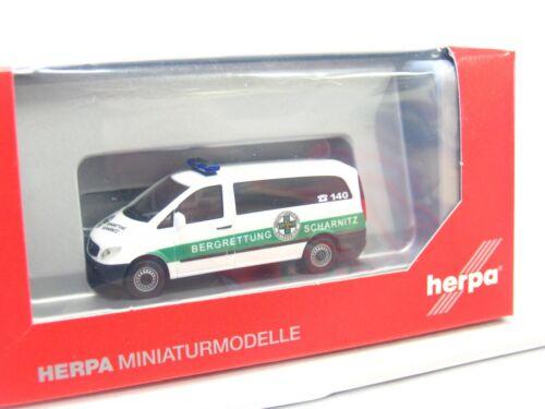Herpa 1//87 049283 MB de autobús Vito montaña rescate Scharnitz embalaje original kv2319