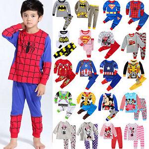 Kids-Baby-Boys-Girls-Outfits-Clothes-T-shirt-Pant-Set-Pajamas-Sleepwear-Suit