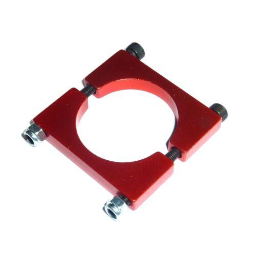Alu de serrage Colliers-Colliers Pour Tuyaux Ø 25 mm rouge Anodisé Pour Alu CFK CCA Rond