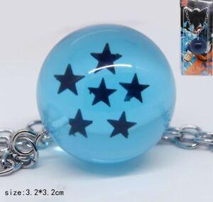 "Dragon Ball Z DBZ Two Star Dragon Ball Keychain Blue 1.5"" US Seller"