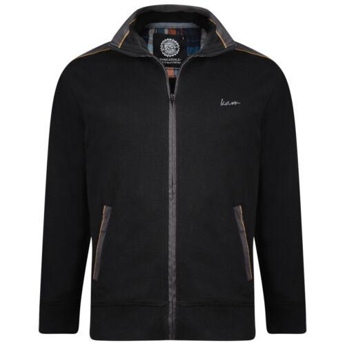 Mens KAM Smart Premium Fleece Jacket Black Big Size 2-8XL