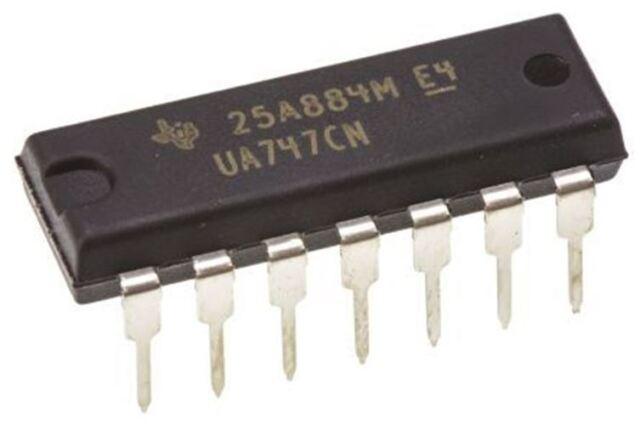 Texas Instruments UA747CN, Op Amp ,1MHz ,14-Pin Pdip