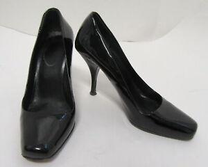 PRADA Black Patent Leather Square Toe