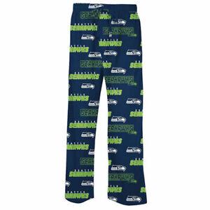 NFL-Men-039-s-Seattle-Seahawks-Slide-Lounge-Pajama-Pants-XLG