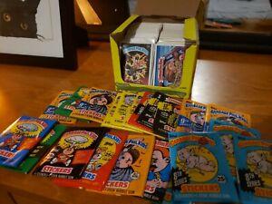 Müll Eimer Kinder Lot 25 Karten Plus ungeöffnet Wachs Pack 2nd - 15th Serie 💣 💥