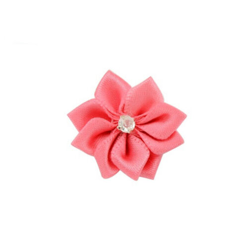 DIY 10 Baby Kids Satin Flower Hair Bow For Headband Hair clip Wedding Decor HC