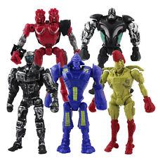 5pcs Movie Real Steel Zeus Atom Midas Noisey Boy Action Figures Robot Toy Doll
