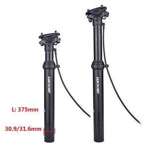 31.6 Dropper Seatpost 100mm Drop External Cable Bike Remote Suspension Seat Post