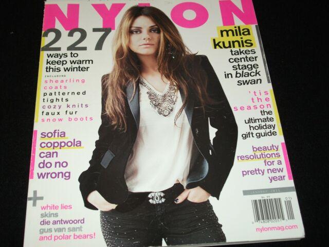 NYLON Magazine<>JANUARY 2011 <> MILA KUNIS