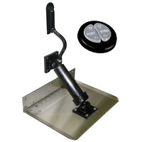Boat Leveler Insta-trim Tab Set 12 X 8 Kit With 2 Tabs + Remote Control Switch