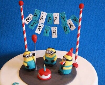 Miraculous Minion Cake Topper Set Happy Birthday Minions Fondant Cake Edible Personalised Birthday Cards Cominlily Jamesorg
