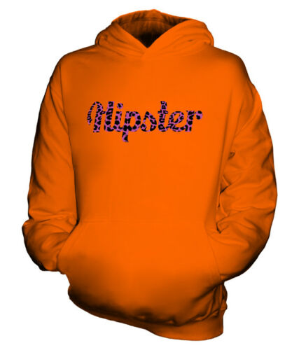 HIPSTER PINK LEOPARD PRINT KIDS FASHION HOODIE TOP GEEK SWAG BOYS GIRLS