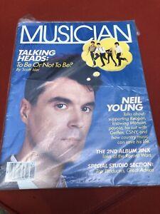 Musician Magazine David Byrne Talking Heads Neil Young Nov 1985 Dwight Yoakam