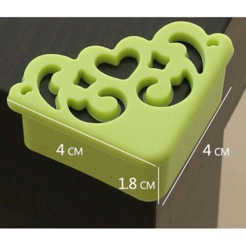 4Pc Blumen Muster weicher Baby sicherer Ecken Schutz Kind Tabellen Rand Schut Fw
