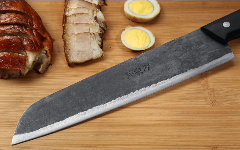 Handmade Manual Manual Manual Forged Chef Knife Cleaver Meat Slicing Bone Cut Chop Wood Handle 31c6f6