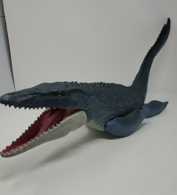 2017 Jurassic World Fallen Kingdom Real Feel Mosasaurus Figure Mattel Mouth Open