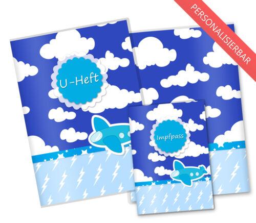 untersuchungsheft /& impfpasshülle Housse de protection U-vol Housse set nuages avion