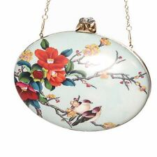 Banned Apparel Socialite Floral Vintage Robin Bird Clutch Bag