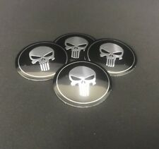 Punisher Wheel Center Hub Cap Emblem Badge Stickers 56 Mm N4