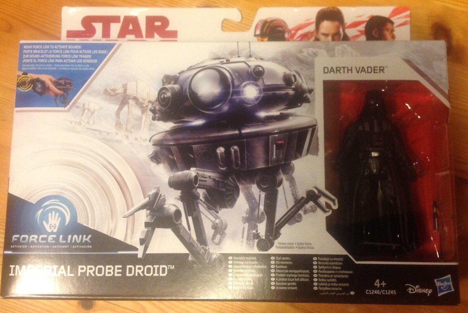 Imperial Probe Probe Probe Droid & Darth Vader Star Wars Force Link Figure BNIB 0d7c42