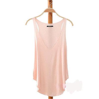 Summer Womens V-Neck Vest Loose Sleeveless Tank T-Shirt Tops