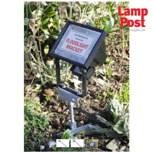 Universal Outdoor Ground Spike pour 1 x 10//20W DEL Projecteur Flood Light-KRP12