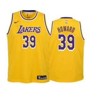 New Nike Men's XL Los Angeles Lakers Dwight Howard Jersey Yellow ...