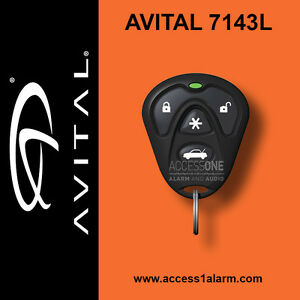 Avital 7143L 4-Button Remote Control Replacement Transmitter EZSDEI474S 474L NEW