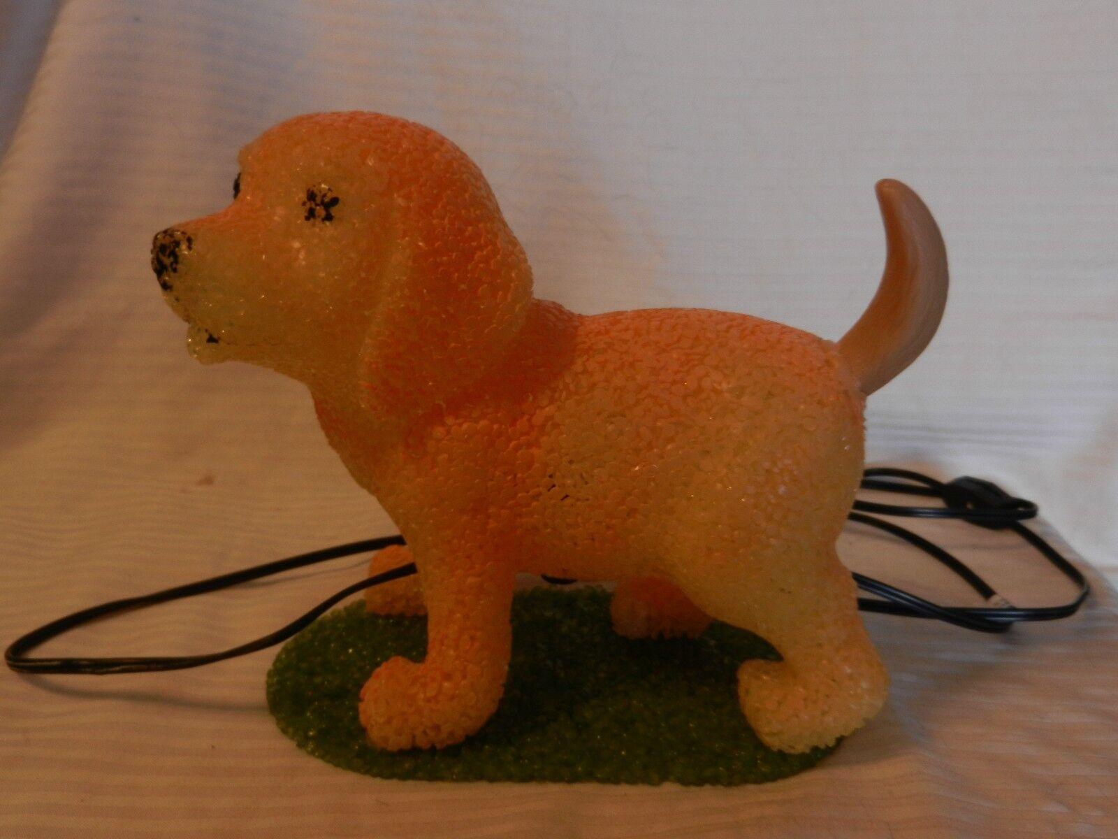 Gelb Plastic Formed Gelb Labrador Retriever Puppy Night Light