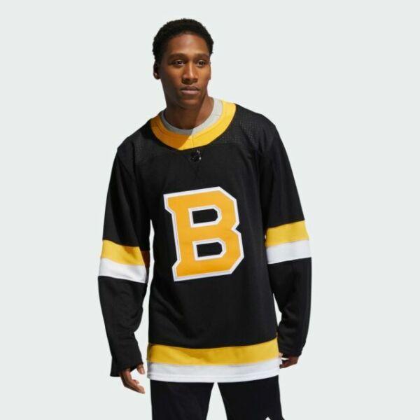 adidas Men's Black Boston Bruins Alternate Authentic Team Jersey ...