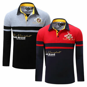New-Men-Snowflake-Polo-Shirt-Long-Sleeve-Striped-Cotton-T-Shirt-with-Embroidered