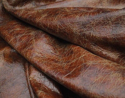 Premium Full Grain Waxy Distressed Multi Tone Italian Leather Cow Hide 26 SF