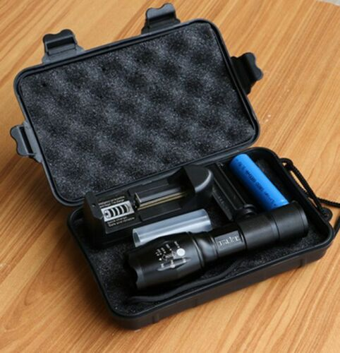10000LM LED Flashlight 5 Modes LED Torch Zoom Outdoor Tactical Gift Box Camping