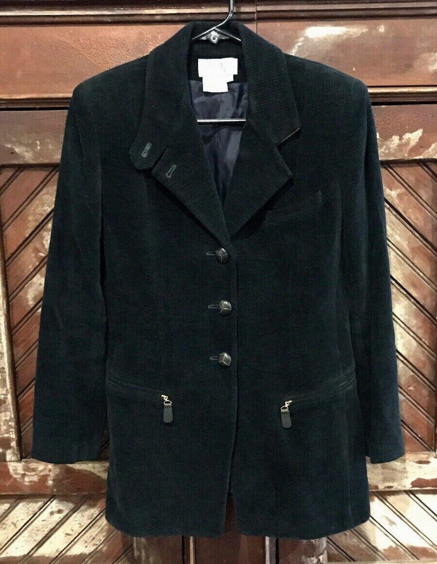 Vintage black corduroy Blazer #111