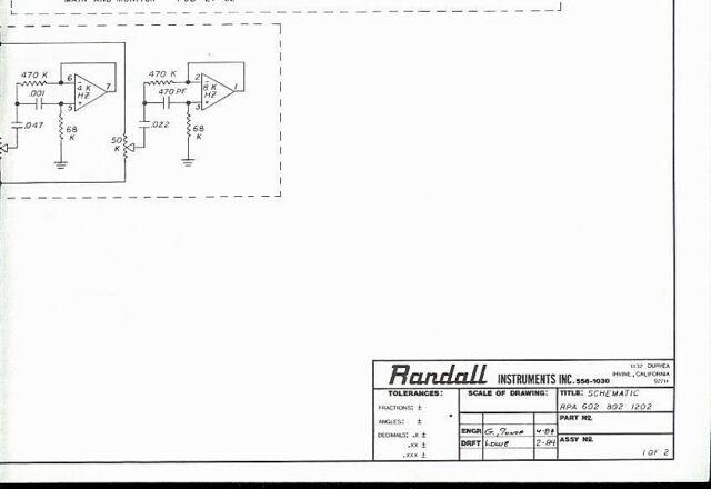 Randall Instruments Rpa 802  1202 Guitar Mixer Schematic Diagram Hq Copy