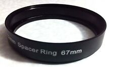 67mm Spacer Metal Adapter Ring For Lens Filter Tube Hood Add Space 67 mm L=12mm